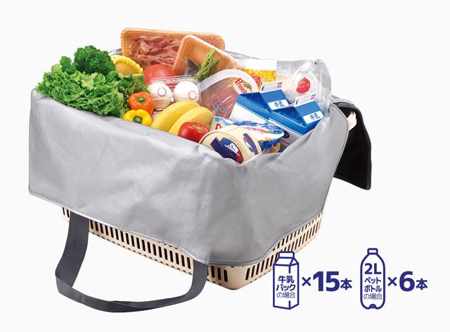 大容量の買い物カゴ用バッグ