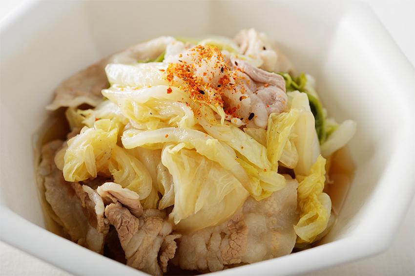 白菜と豚バラのポン酢煮
