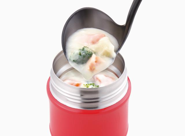 スープを注ぎやすい形状