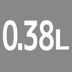 0.38L