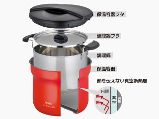 高い保温効果で調理