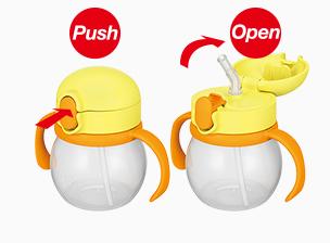 プッシュ&オープンで簡単